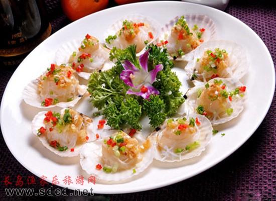 长岛海鲜美食—扇贝