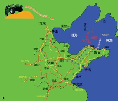 长岛周边省份自驾地图